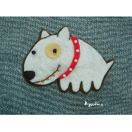 Broche bullterrier costado