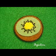 Broche kiwi