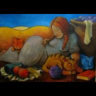 La dame aux chats ( La mujer de los gatos)