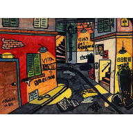 Original Drawing of a Street with markers... 35 years ago.